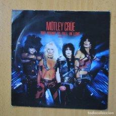 Discos de vinilo: MOTLEY CRUE - TOO YOUNG TO FALL IN LOVE - SINGLE. Lote 270555318