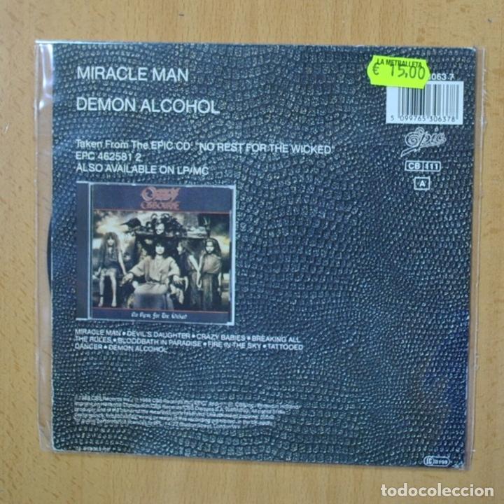 Discos de vinilo: OZZY OSBOURNE - MIRACLE MAN - SINGLE - Foto 2 - 270555363