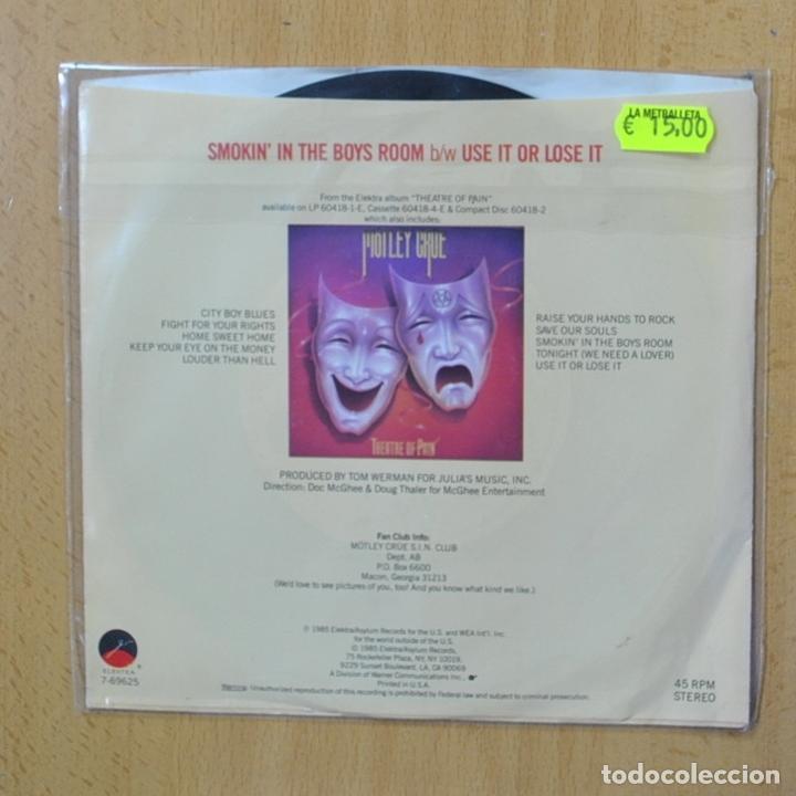 Discos de vinilo: MOTLEY CRUE - SMOKIN IN THE BOYS ROOM - PROMO - SINGLE - Foto 2 - 270555373