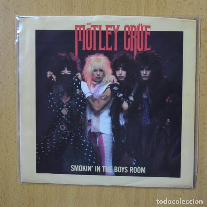 MOTLEY CRUE - SMOKIN IN THE BOYS ROOM - PROMO - SINGLE (Música - Discos - Singles Vinilo - Heavy - Metal)