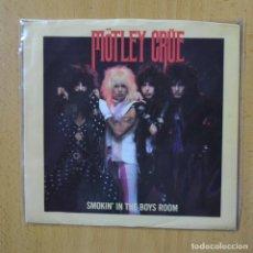 Discos de vinilo: MOTLEY CRUE - SMOKIN IN THE BOYS ROOM - PROMO - SINGLE. Lote 270555373