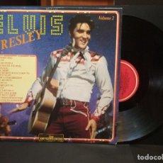 Discos de vinilo: ELVIS PRESLEY VOLUME 2 LP ITALIA 1986 THE ENTERTAINERS LP 13,019 PEPETO. Lote 270556158