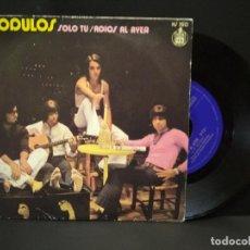 Disques de vinyle: MÓDULOS - SOLO TÚ / ADIÓS AL AYER, SINGLE HISPAVOX 1971. PEPETO. Lote 270561358