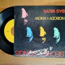 Discos de vinilo: VINILO SINGLE DE SECRERT SONGS LENNON Y MC CARTNEY. Lote 270585943