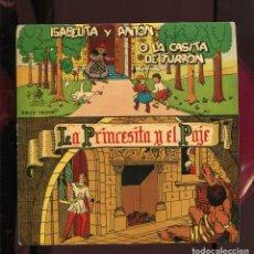 Discos de vinilo: ISABELITA Y ANTON CASITA TURRÓN.PRINCESITA Y EL PAJE ODEON 1958. OMO NUEVO. FONDO DE ALMACÉN.SP ROJO. Lote 270586128