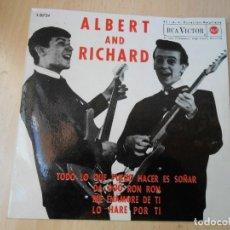 Discos de vinilo: ALBERT AND RICHARD, EP, TODO LO QUE PUEDO HACER ES SOÑAR + 3, AÑO 1964. Lote 270586193