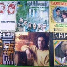 Discos de vinilo: LOTE 6 SINGLES (LOS BRINCOS, MOCEDADES, MISMOS, FORMULA V, KARINA, VICTOR MANUEL). Lote 270608698