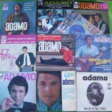 Discos de vinilo: LOTE 10 SINGLES Y EPS DE ADAMO. Lote 270609423