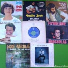 Discos de vinilo: LOTE 8 SINGLES (PIERRE GROSCOLAS, JULIO IGLESIAS, JULIAN LENNON, EMILIO JOSE, KARINA, AGUILE, M.MATH. Lote 270610753