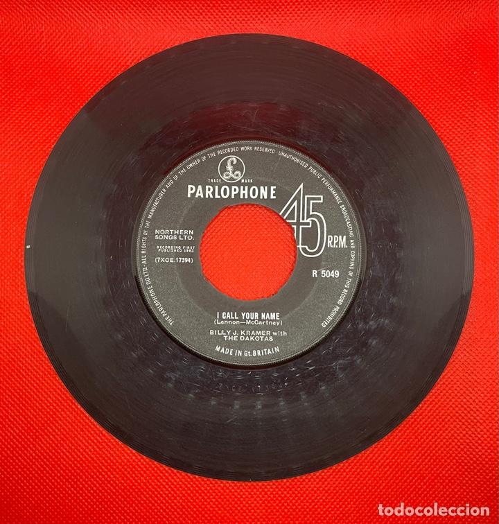 Discos de vinilo: BILLY J. KRAMER Bad To Me / I Call Your Name Original 1963 UK Single Parlophone R5049 Beatles - Foto 2 - 270610833