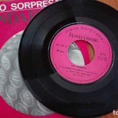 Discos de vinilo: DISCO SORPRESA FUNDADOR EP LOS INDONESIOS 1968. Lote 270611508