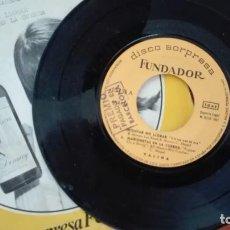 Discos de vinilo: DISCO SORPRESA FUNDADOR EP YALINA / LOS WATTS1967. Lote 270613618