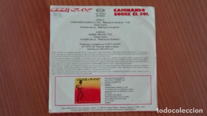 Discos de vinilo: Eddy Grant Walking on Sunshine Single Movieplay 1979 - Foto 2 - 270617778
