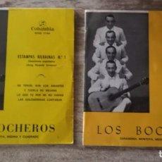 Discos de vinilo: 2 SINGLES LOS BOCHEROS ESTAMPAS BILBAINAS N1 -ESTAMPAS BILBAINAS N2 Y N3. Lote 270631268