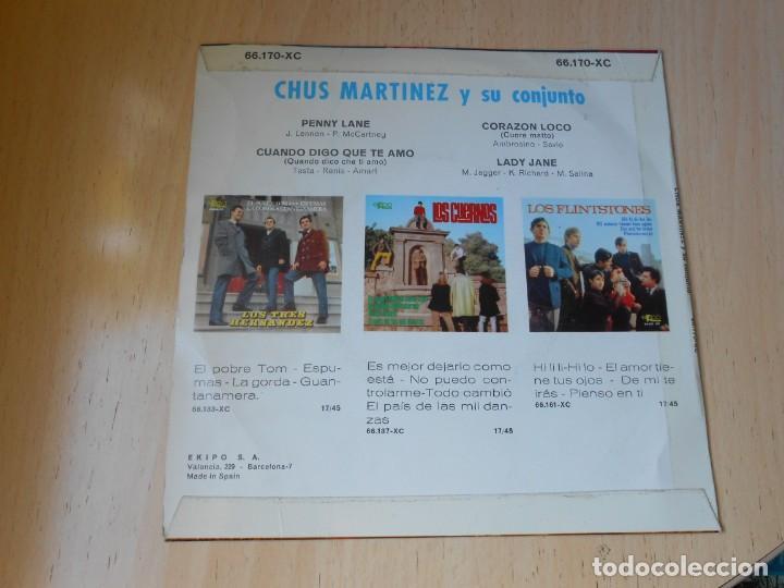 Discos de vinilo: CHUS MARTINEZ y su Conjunto, EP, PENNY LANE + 3, AÑO 1967 - Foto 2 - 270638243