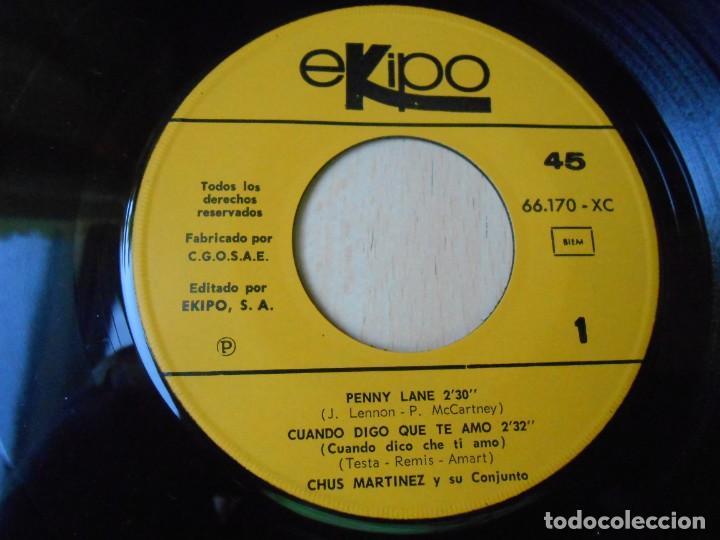 Discos de vinilo: CHUS MARTINEZ y su Conjunto, EP, PENNY LANE + 3, AÑO 1967 - Foto 3 - 270638243