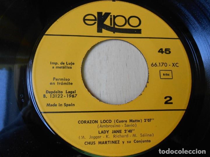 Discos de vinilo: CHUS MARTINEZ y su Conjunto, EP, PENNY LANE + 3, AÑO 1967 - Foto 4 - 270638243
