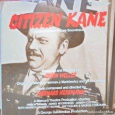 Discos de vinilo: ORSON WELLES BADA SONORA DE CITIZEN KANE LP 2 DISCOS EDITADO EN USA SELLO MARK56 MÚSICA: BERNARD HER. Lote 270640413