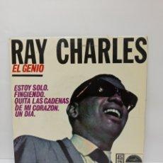 Discos de vinilo: RAY CHARLES, ESTOY SOLO +3 (HISPAVOX 1962). Lote 270648343