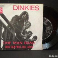 Discos de vinilo: DINKIES ONE MAN BAND SOON RAIN WILL FALL AGAIN SINGLE EMI BELGICA COLUMBIA PEPETO. Lote 270654938