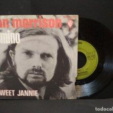 Discos de vinil: VAN MORRISON – SINGLE 1970 FRANCIA. DOMINO + SWEET JANNIE WB PEPETO. Lote 270655403