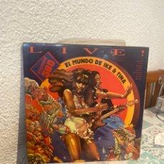 Disques de vinyle: IKE & TINA TURNER: LIVE! EL MUNDO DE IKE & TINA.. Lote 270660263