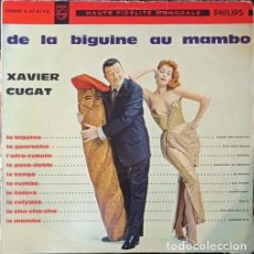 Discos de vinilo: XAVIER CUGAT – DE LA BIGUINE AU MAMBO - LP FRANCES DE 10 PULGADAS - 25 CM. Lote 270690038