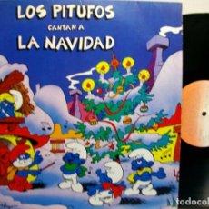 Disques de vinyle: LOS PITUFOS CANTAN LA NAVIDAD DISCO VINYL LP. Lote 270692218