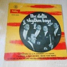 Dischi in vinile: DELTA RHYTHM BOYS, EP, L´AMOUR A FAIT DE MOI + 3, AÑO 1958. Lote 270693063
