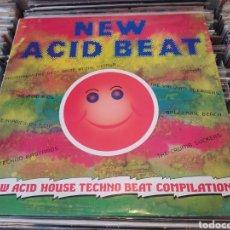 Discos de vinilo: NEW ACID HOUSE TECHNO BEAT COMPILATION. LP VINILO EDICION SPAIN 1989. BUEN ESTADO.. Lote 270861018