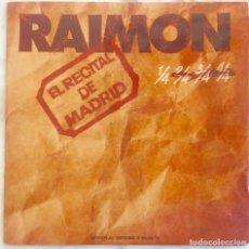 Discos de vinilo: RAIMON. EL RECITAL DE MADRID. DOBLE LP MOVIEPLAY. LP 1976 CON LIBRETO. Lote 270874393