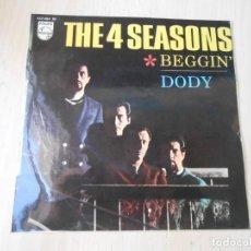 Discos de vinilo: 4 SEASONS, THE, EP, BEGGIN´ + 3, AÑO 1967. Lote 270874553