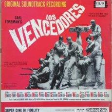 Discos de vinilo: FRANK SINATRA BANDA SONORA ORIGINAL BSO DE LA PELICULA - LOS VENCEDORES THE VICTORS EDICION ESPAÑOLA. Lote 270883003