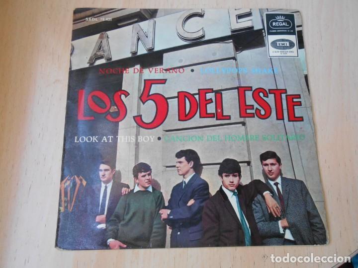 5 DEL ESTE, LOS, EP, NOCHE DE VERANO + 3, AÑO 1965 (Música - Discos de Vinilo - EPs - Grupos Españoles 50 y 60)
