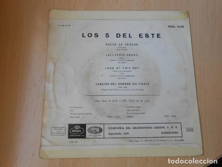 Discos de vinilo: 5 DEL ESTE, LOS, EP, NOCHE DE VERANO + 3, AÑO 1965 - Foto 2 - 270883078