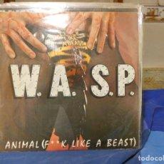 Discos de vinilo: MAXI SINGLE HEAVY METAL WASP ANIMAL FUCK LIKE A BEAST MUY BUEN ESTADO GENERAL. Lote 270883798