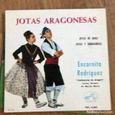 """Discos de vinilo: ENCARNITA RODRÍGUEZ - JOTAS ARAGONESAS - 7"""" EP LA VOZ DE SU AMO 1964. Lote 270887353"""