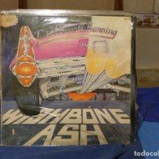 Discos de vinilo: LP WISHBONE ASH TWIN BARRELS BURNING 1982 ACUSA CIERTO DESGASTE GENERAL AUDIBLE. Lote 270892853