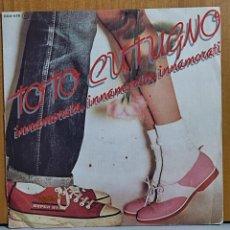 Discos de vinilo: TOTO CUTUGNO - INNAMORATA , INNAMORATO, INNAMORATI - SINGLE - ZAFIRO 1981. Lote 270902123