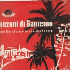 Discos de vinilo: 33 GIRI CANZONI DI SANREMO FIORELLA BINI ADRIANO VALLE PIPPO BARZIZZA E LA SUA ORCHESTRA POLYDOR. Lote 270906638