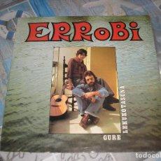 Discos de vinilo: ERROBI - GURE LEKUKOTASUNA - LP ELKAR DONOSTIA (EMI ODEON) 1978 - ELK 27 CON ENCARTE CON LAS LETRAS. Lote 270916138