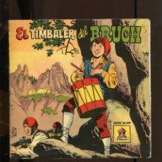 Discos de vinilo: EL TIMBALER DEL BRUCH. ODEON 1959 SP AMB EL CUENTO COMO NUEVO FONS MAGATZEM. Lote 270926938