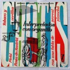 Discos de vinilo: CHOTIS INTERPRETADOS CON ORGANILLO, PICHI Y CUATRO CANCIONES MAS, AÑO 1963, ZAFIRO. Lote 270931958