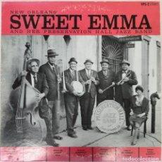 Discos de vinilo: NEW ORLEANS' SWEET EMMA AND HER PRESERVATION HALL JAZZ BAND ---AUTOGRAFIADO---. Lote 270949018