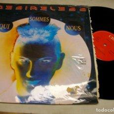 """Discos de vinilo: DESIRELESS – QUI SOMMES NOUS MAXI 12"""" LP. Lote 270961228"""