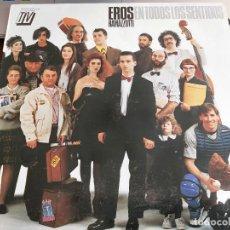 Discos de vinilo: EROS RAMAZZOTTI – EN TODOS LOS SENTIDOS SELLO: HISPAVOX – 082 79 43481. BUEN ESTADO.NEAR MINT / NM. Lote 270973563