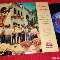 Discos de vinilo: CAPILLA CLASICA FAD COBLA GIRONA EL SALTIRO DE LA CADIRA/LES FULLES SEQUES +2 EP 1959 REGAL SARDANA. Lote 271023123