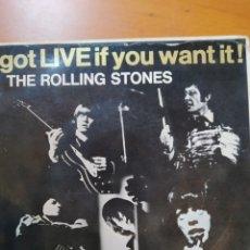 Discos de vinilo: ROLLING STONES GOT LIVE IF YOU WANT IT, EP. Lote 271029138