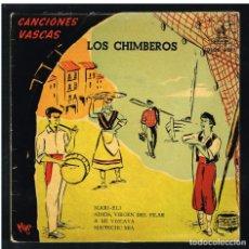 Discos de vinilo: LOS CHIMBEROS - MARI-ELI / ADIOS, VIRGEN DEL PILAR +2 - EP - SOLO CARATULA SIN DISCO. Lote 271035273