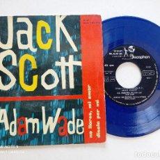 Discos de vinilo: JACK SCOTT / ADAM WADE - OH, PEQUEÑA +3 - EP TOP RANK DISCOPHON 1961 // VINILO AZUL TEENER R'N'R. Lote 271081613